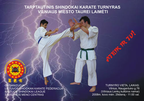 Kvietimas i tarptautini shindokai karate turnyra